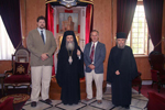 His Beatitude with Mr. Dirk Lackovic-van Gorp and Mr. Gregory Malzuk