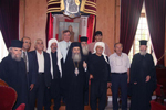 His Beatitude with Dr. Antraous and representatives of the Druze Community of the Golan Heights