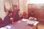 H.B. with F. Isidoros & specialists at the office of the Church of Resurrection