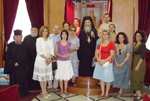 A commemorative photo with His Beatitude and pilgrims of