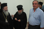 His Beatitude with Archbishop of Constantina Aristarchos and Mr.Ben-Hur